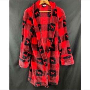 PINK VS Women Sz M/L Robe Red Black